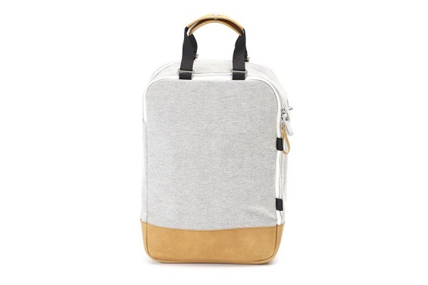 Qwstion Daypack raw blend natural leather